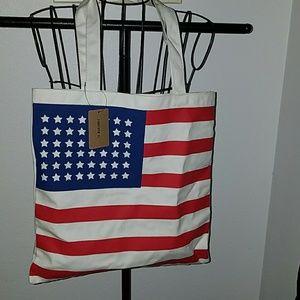 NWT🇺🇸 Canvas USA Flag Tote